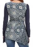 Brand tunic, blue-ecru