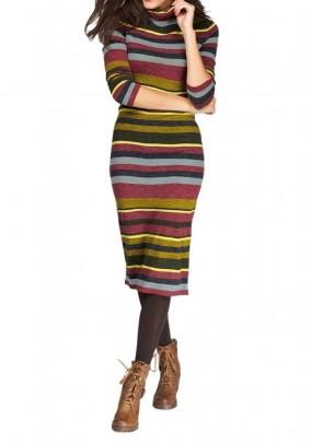 Megzta dryžuota suknelė