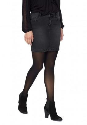 Juodas džinsinis sijonas