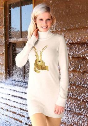 Šviesus megztinis - tunika