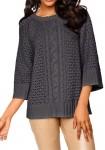 Laisvo pasiuvimo pilkas megztinis