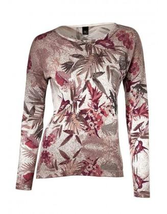 Romantiškas margas megztinis