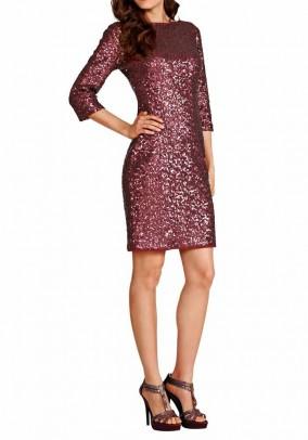 Vakarinė blizgi bordo suknelė. Liko 38/40 dydis