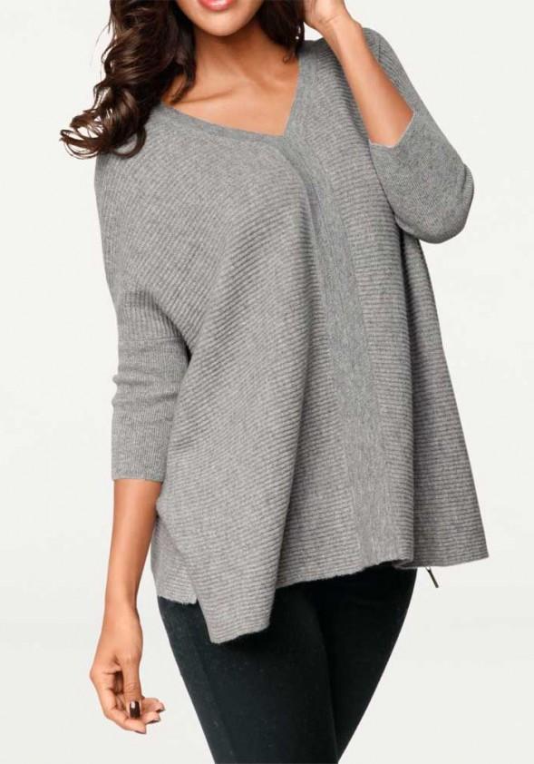 Pilkas kašmyro megztinis