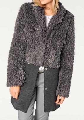 Pilkas originalus paltas
