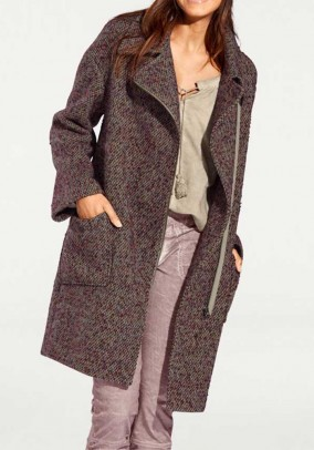 "Vilnonis paltas ""Mauve"". Liko 40/42 dydis"