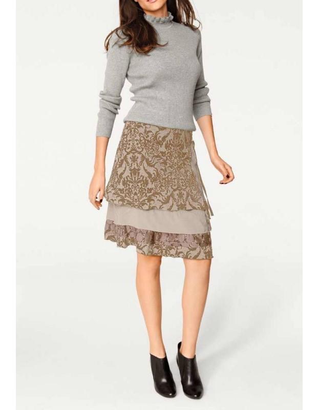 Romantiškas rudas sijonas