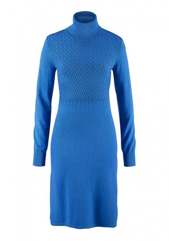 Megzta ryškiai mėlyna suknelė