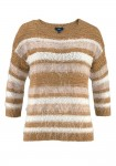 Sweatshirt, cinnamon-white