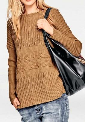 Rudas megztinis su vilna
