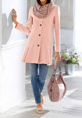 Wool coat, rose