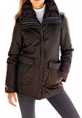 Two-in-one function jacket, brown
