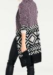 Ilgas violetinis megztinis