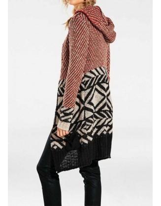Ilgas oranžinis megztinis