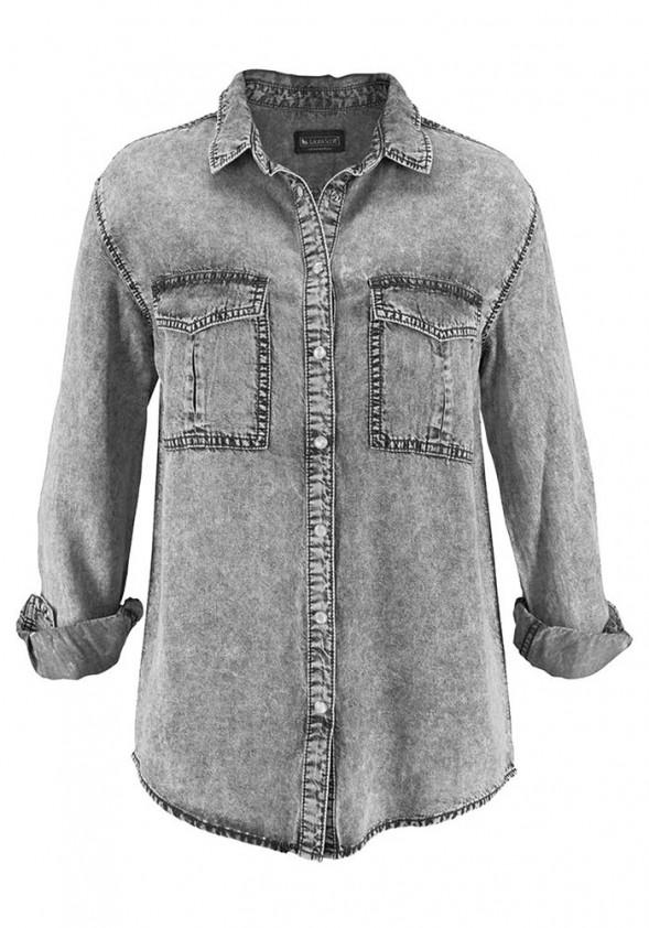Pilki džinsiniai marškiniai