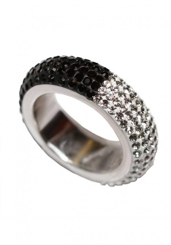 Sidabrinis žiedas su Swarovski kristalais
