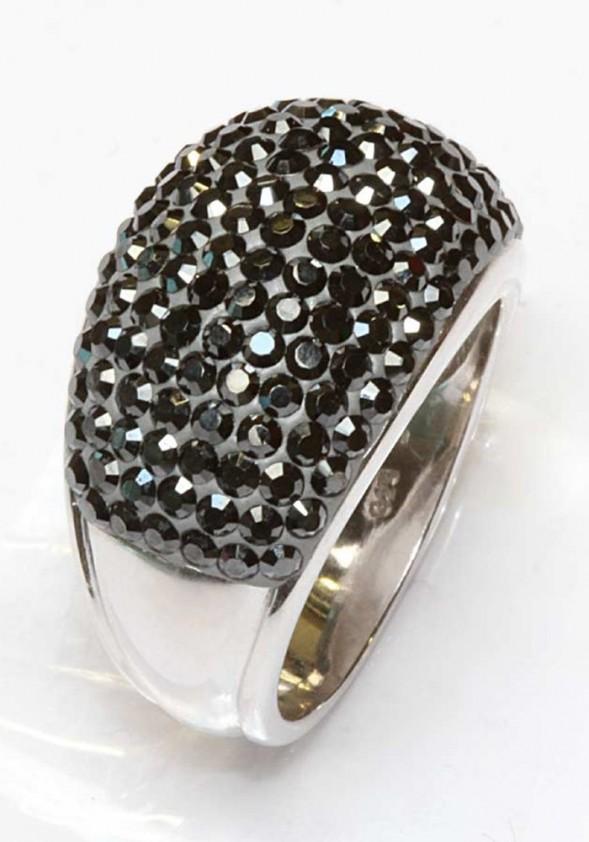 """Juodas sidabro žiedas """"Black"""""""