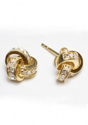 Ear studs, gold plated