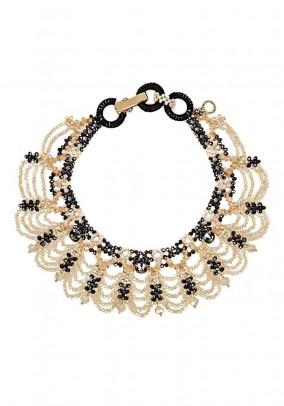 Necklace, beige-brown