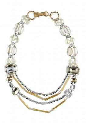 Label necklace, cream