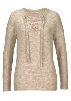 Sweatshirt with lacing, nature