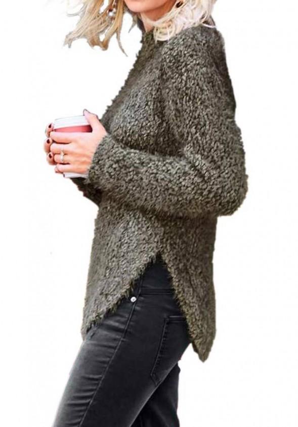 Minkštas chaki megztinis