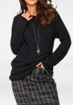 Tamsiai mėlynas megztinis
