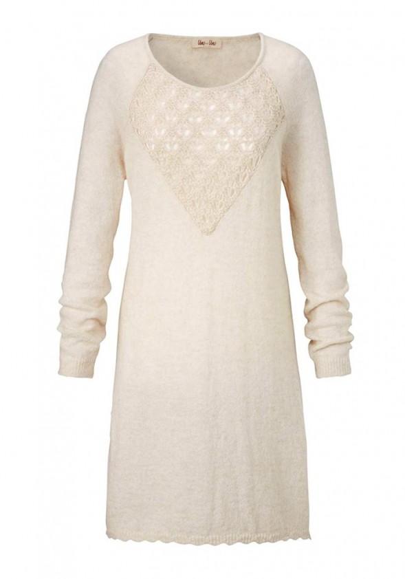Long sweatshirt, wool white