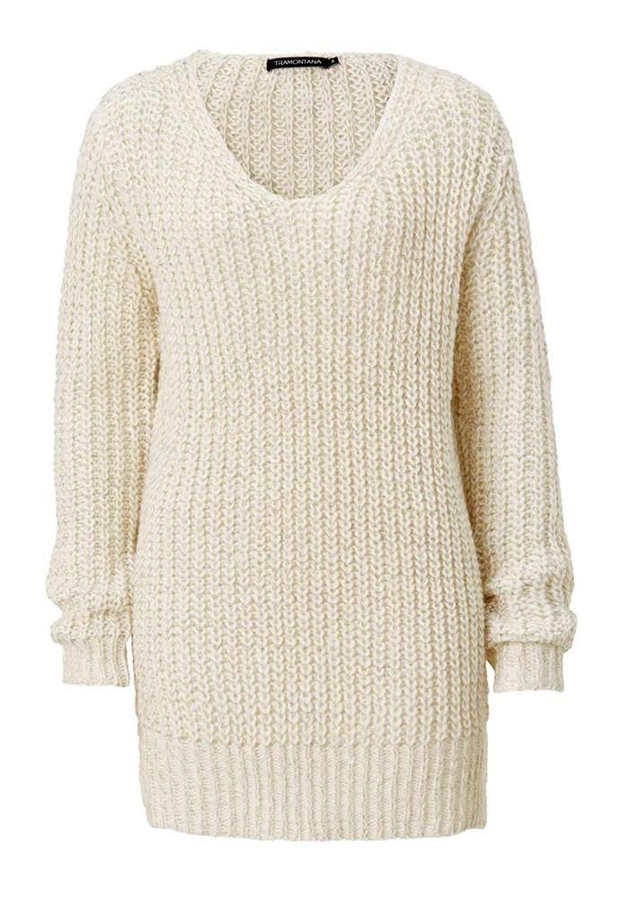 77c11594056 Sweatshirt, wool white - gold coloured
