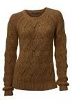 Rudas minkštas megztinis