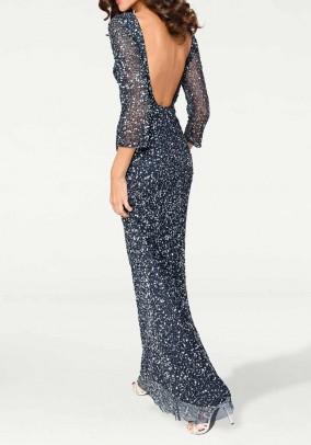 Žėrinti vakarinė ilga suknelė
