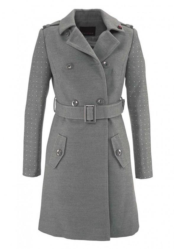 Pilkas klasikinis paltas