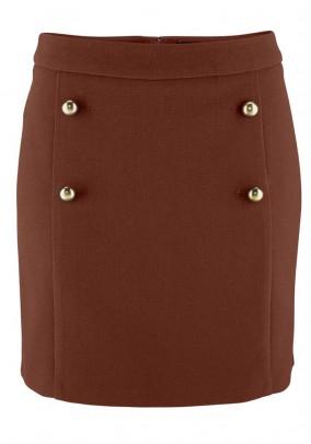 Trumpas rudas sijonas