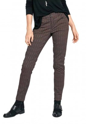 Print trousers, multicolour