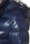 Mėlyna striukė su pūkais