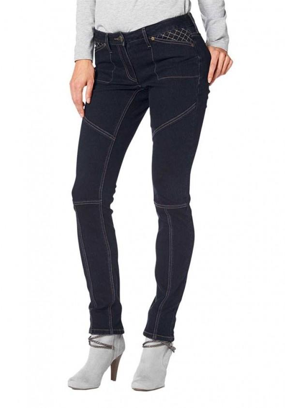 Tamsiai mėlyni džinsai