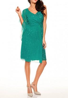 Žalia vakarinė suknelė