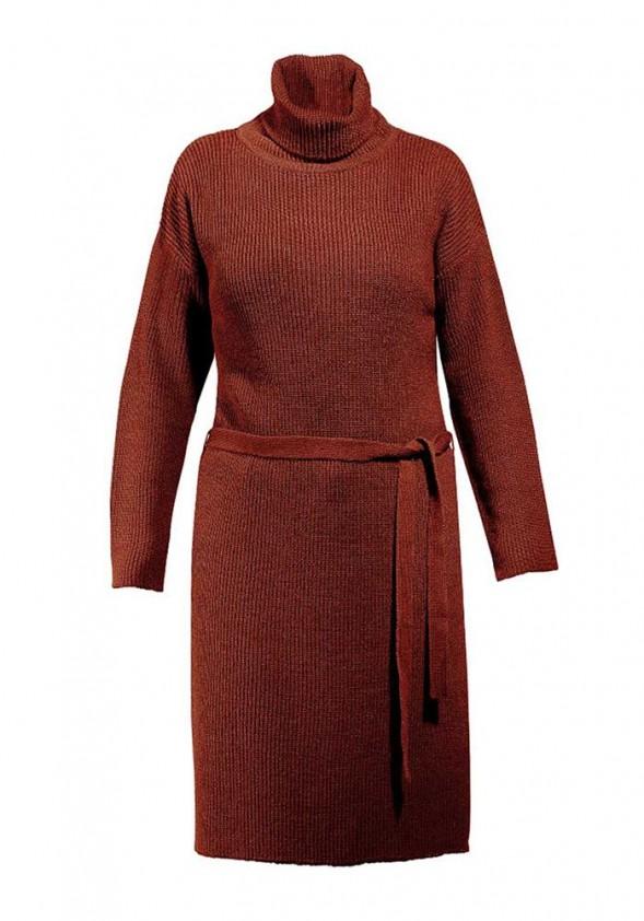 Megzta suknelė aukšta apykakle