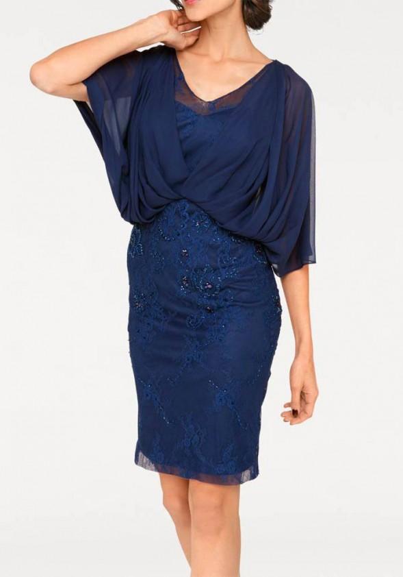 Mėlyna prabangi suknelė