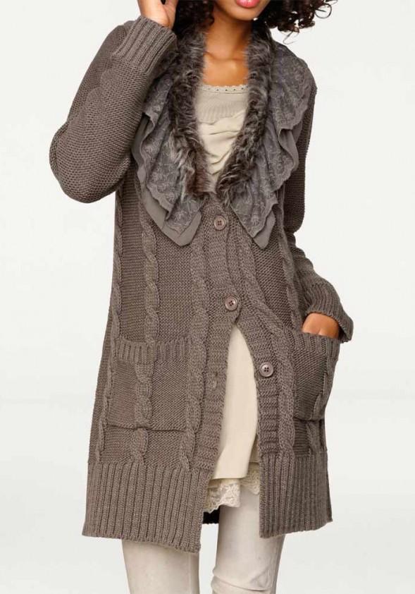 "Ilgas megztinis ""Taupe"""