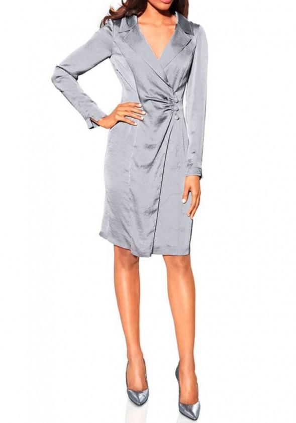 S. Madan sidabrinė suknelė