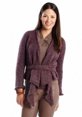 Violetinis susiaučiamas megztinis