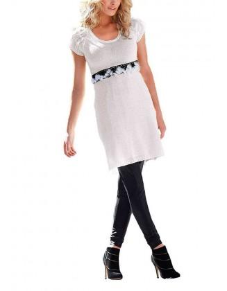 Megzta balta suknelė