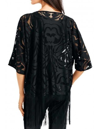 Nėriniuotas juodas švarkas