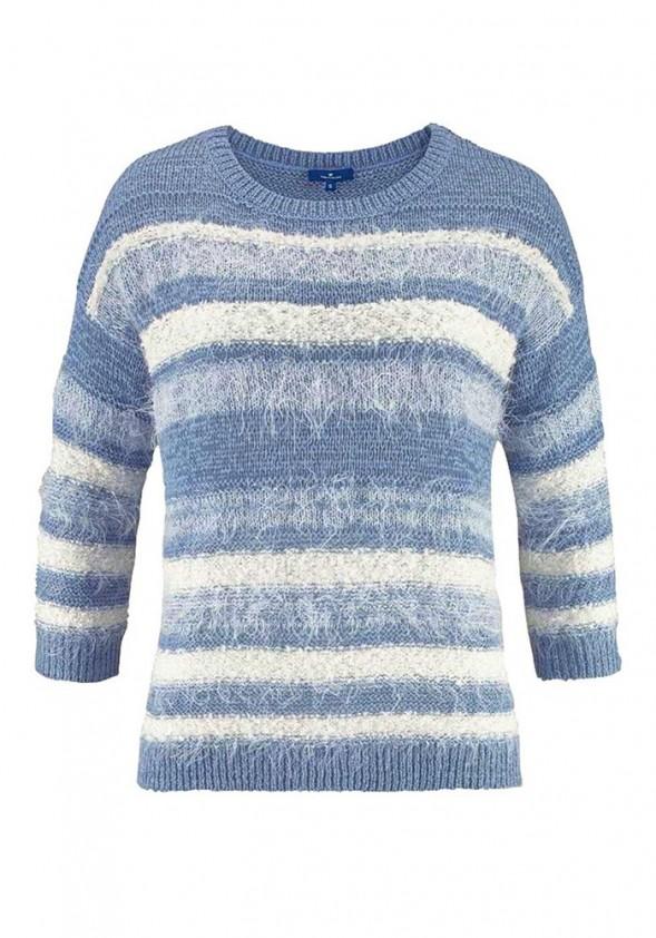 Tom Tailor dryžuotas megztinis. Liko M/L dydis
