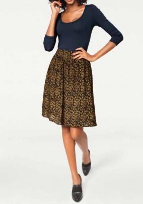 Žaismingas geltonas sijonas