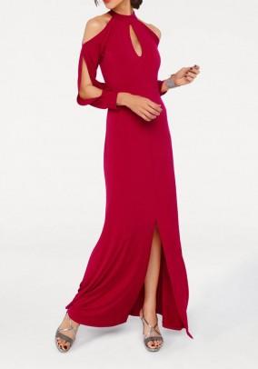 Ilga raudona vakarinė suknelė. Liko 38 dydis