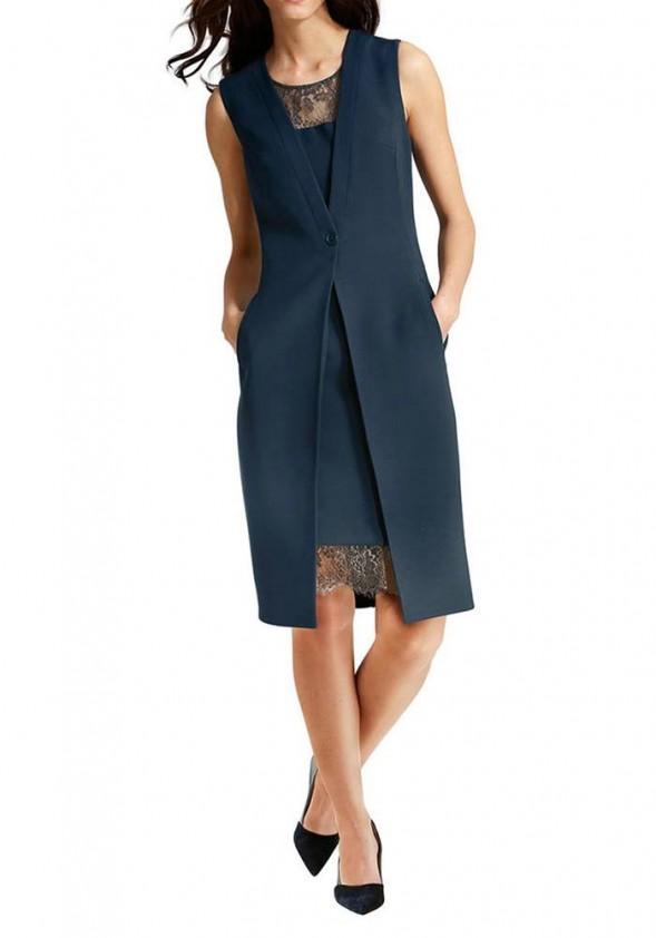 Verslo klasės mėlyna suknelė