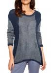 Mėlynas jaukus megztinis