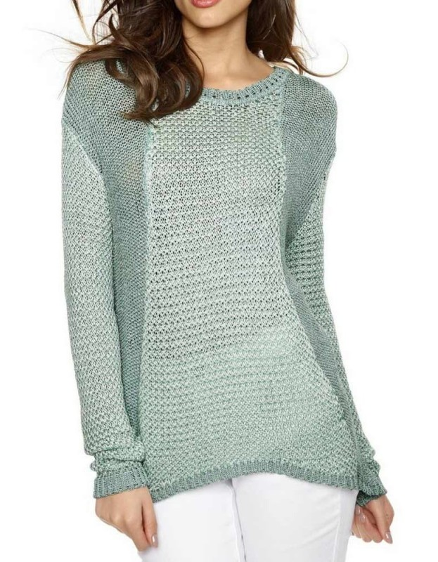 Melsvas jaukus megztinis